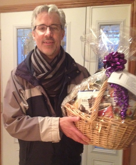 The winner of the Book Sale Gift Basket